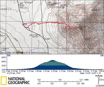 Kessler Peak GPS track