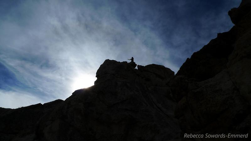 David approaching the last ridge to the summit