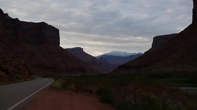 Driving 128 towards Moab