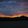 Sunset from camp. We rolled in right at sunset so didn't get a good view of the area until the next morning.