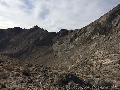 The class 3/4 ridge between Bat Mtn N and Bat Mtn S. Not today!