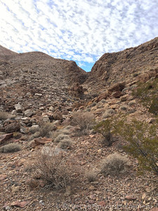 Some of the canyons were rocky scrambles.