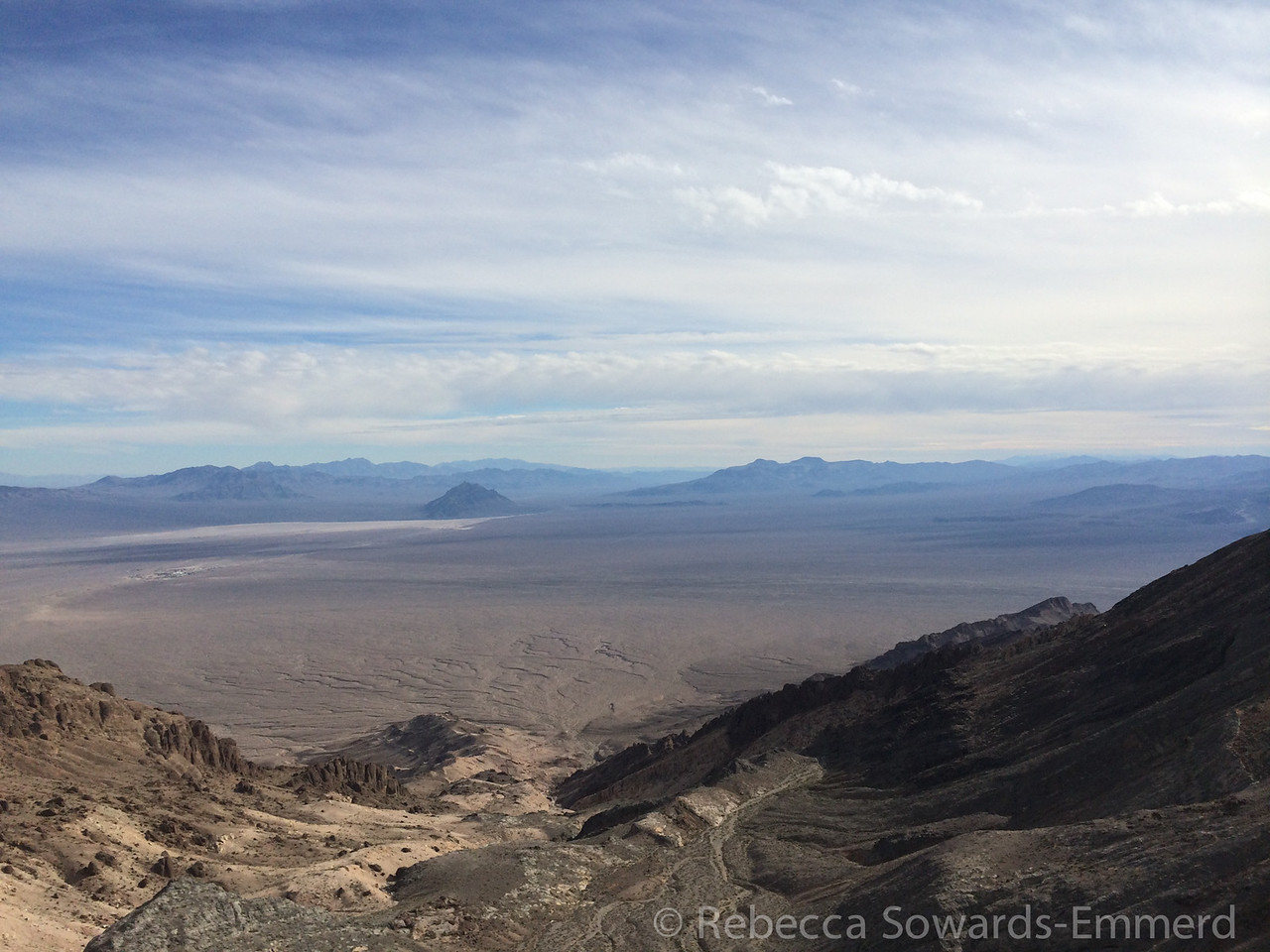 View to the south. The little bump in the middle is Eagle Peak, a really fun desert scramble.