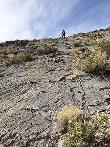 Steep but super sticky rock. Great for walking on!