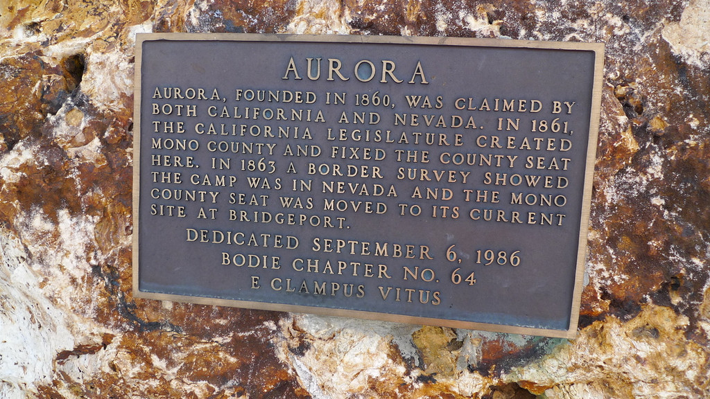 No pictures along the drive, I was too busy white knuckling and spotting. :) Finally we made it to Aurora. Not much left here other than an interesting cemetery and some generic mining ruins. There is a lot of history though. Mark Twain lived here for a while.