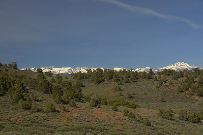 The Sierra Crest pokes out  - view towards Matterhorn/Twin Lakes area
