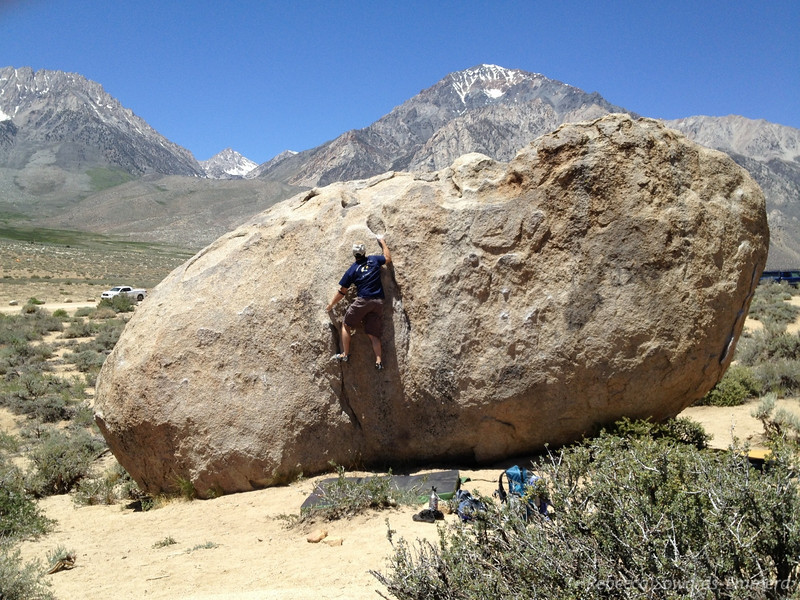 Off to the Buttermilks! I love bouldering but the buttermilks kick my butt. I can barely get off the ground here. Still, it's a classic place and the view isn't bad either!