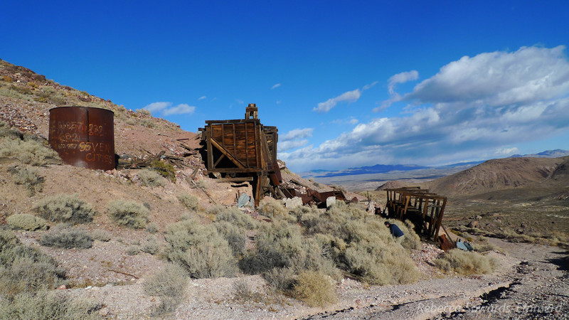 Bullfrog mining district ruins - near Pioneer outside of Beatty.