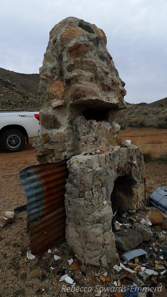 Old chimney at the Jack Henry mine. Now kind of a junkyard.
