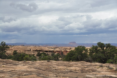 Watching lightning and storms across the desert. Slickrock Trail, Canyonlands National Park Needles District