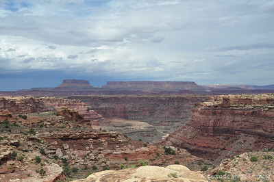 Somewhere below the Green and Colorado rivers meet, becoming the massive Colorado River that flows through the Grand Canyon. Slickrock Trail, Canyonlands National Park Needles District