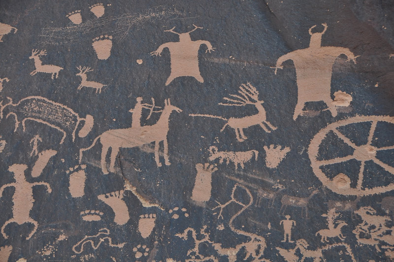 Hunting scene at Newspaper Rock