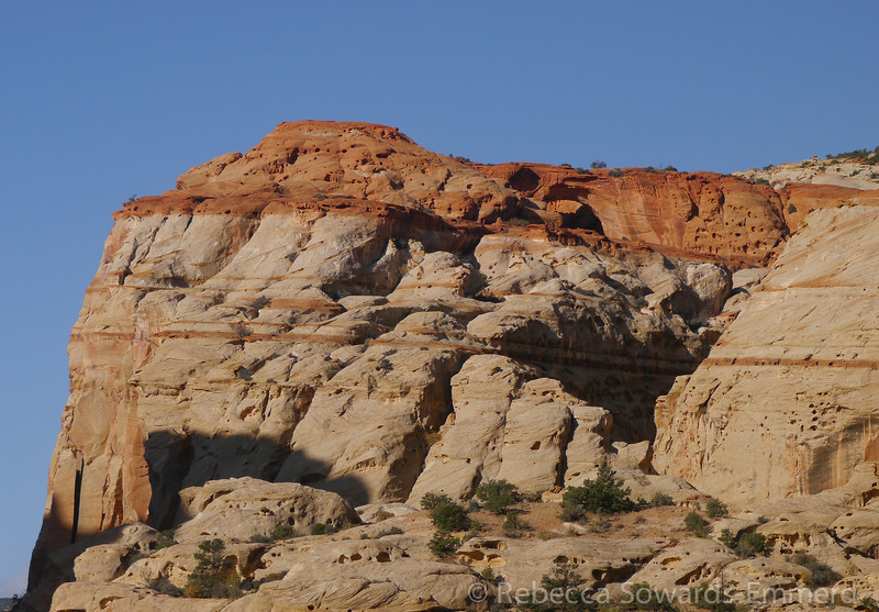 We decided we needed one good hike and chose Cassidy Arch. Here is is from the road (see it?)