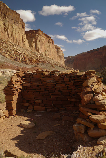 Ruins near the uranium mines.