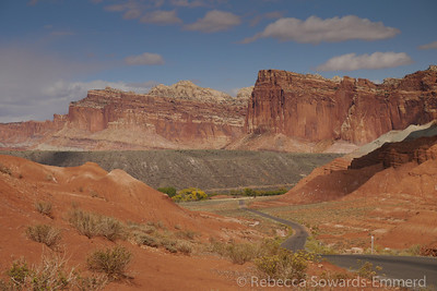 Capitol Reef from the road.