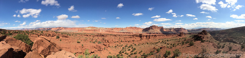 Panorama from a viewpoint just outside of Escalante.