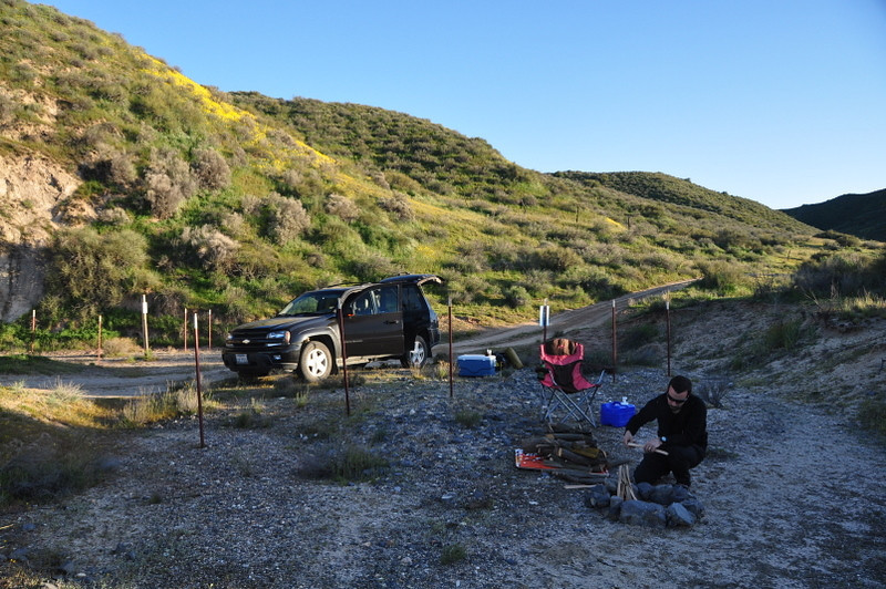 Backcountry campsite<br /> <br /> Along Padrone Canyon Road