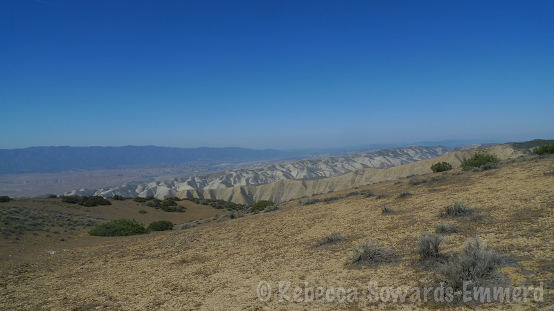 Looking NW across Cuyama Valley. Some of the hills look like Death Valley.