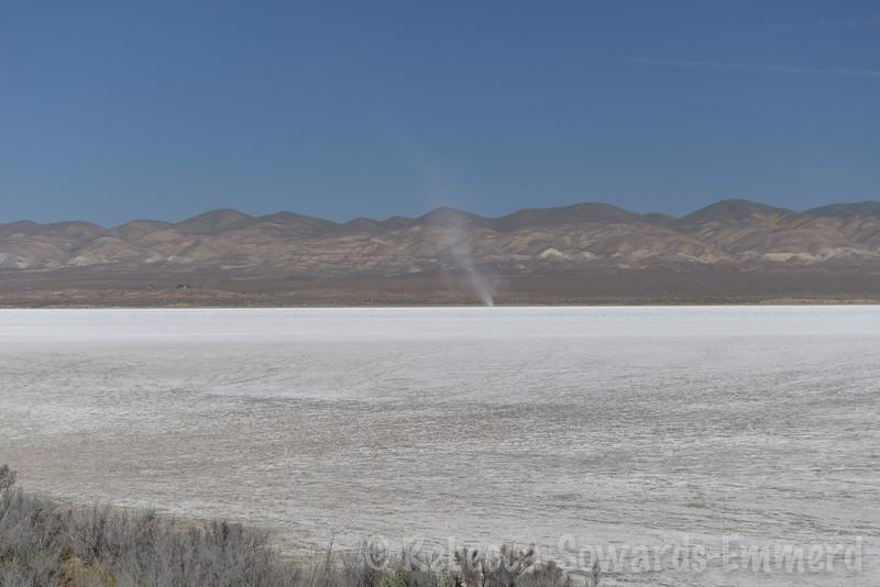 Dust devil on Soda Lake