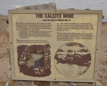 Next we hiked in to an abandoned Calcite Mine. It was used for optical calcite for gun sights in WWII and run by the Polaroid Corporation. It was closed after only a short time due to a newly created synthetic substitute.