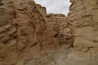 Into the canyon. One description of this hike calls it the best slot canyon in Anza Borrego.