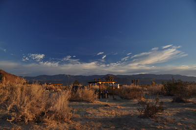 Morning at Borrego Palm Canyon campground