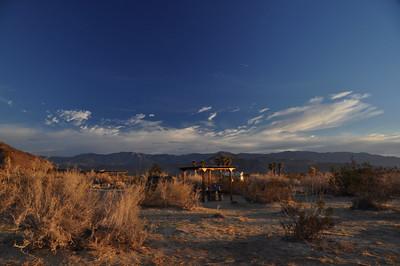 Morning at Borrego Palm Canyon campground