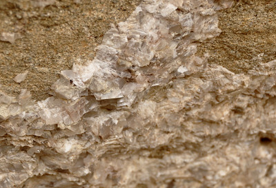 A calcite vein - you can see all the crystals.