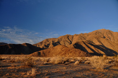 Morning light in Anza Borrego