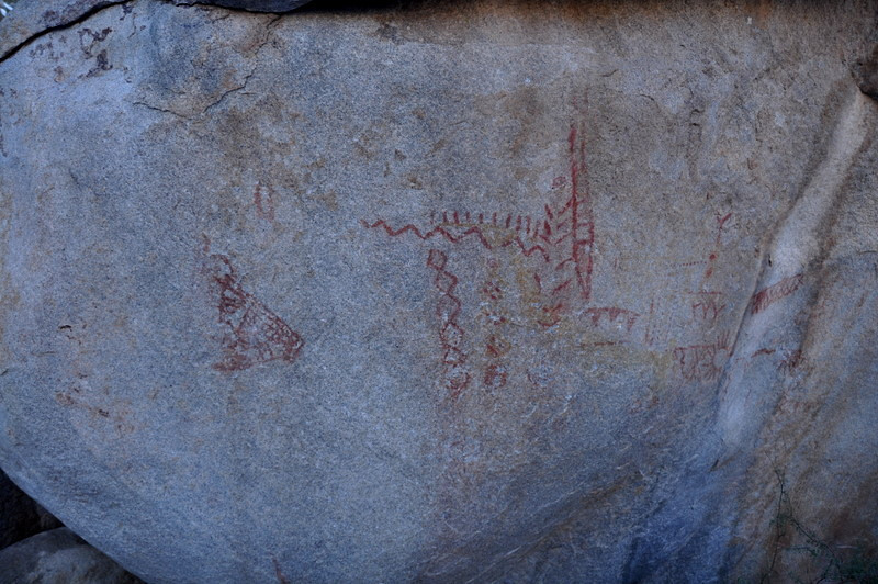 At the pictographs