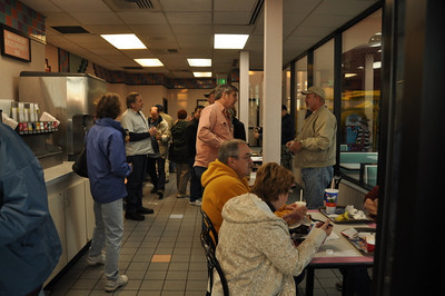 Meeting up at McDonalds, about the only place open at 7 am in Twentynine Palms.