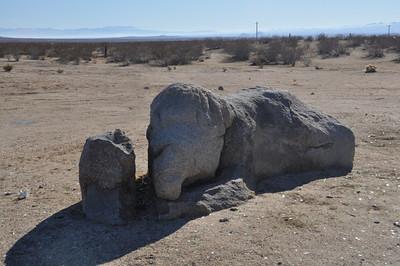 Elephant Rock  A sleeping elephant in the desert