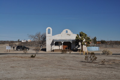 Kill Bill Church  As we worked our way over to 58 we took several backroads so that we could check out this (operational) church. In the middle of nowhere, it's a popular movie set. It's probably most famous as the El Paso Wedding Chapel in Kill Bill, one of my favorite movies.