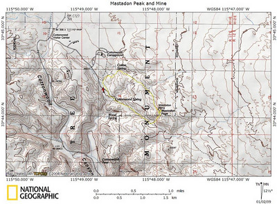 The short loop to Mastadon Peak. See, it's labelled on the map so it counts! :)