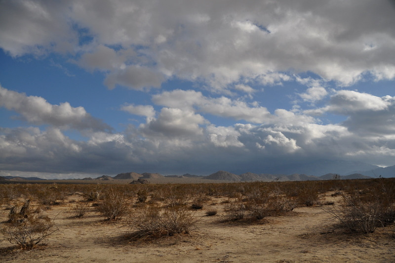 Desert with breaking clouds, finally.