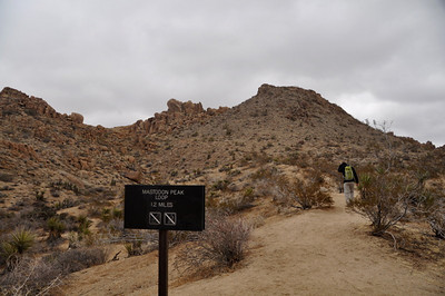 Hiking up towards Mastadon Peak