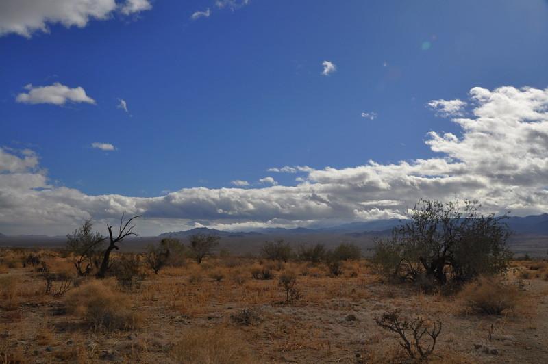 Blue sky over the desert