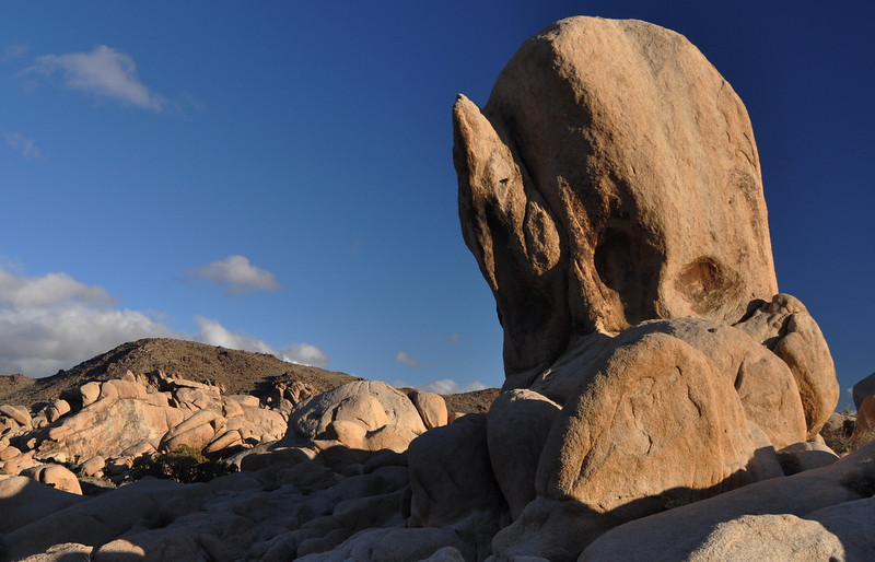 Rock behind camp