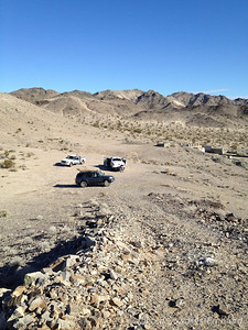 Our campsite on the heels of Little Cowhole Mountain range.