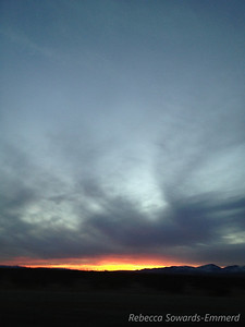 Sunset from near the Mojave air port.