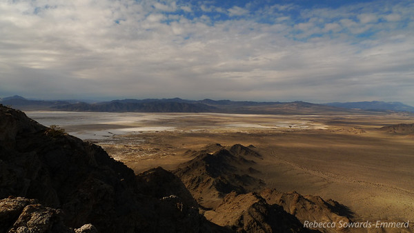 Looking out on Soda Lake from the summit of Cowhole.