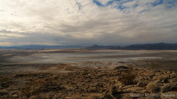 Soda Lake. And interesting clouds. There is a possibility of rain in the forecast and there are just enough incoming clouds that we start to think about getting stuck on the loose stuff in the rain. None of us want that.