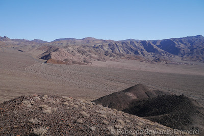 The Death Valley buttes stand a bit isolated so the hike along the ridge has fantastic open views.
