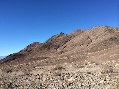 Death Valley buttes. High point is rocky summit on left - perspective is just weird from here.
