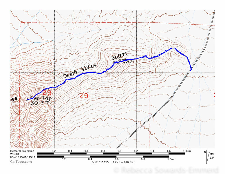 GPS track of the climb