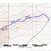GPS track of the climb