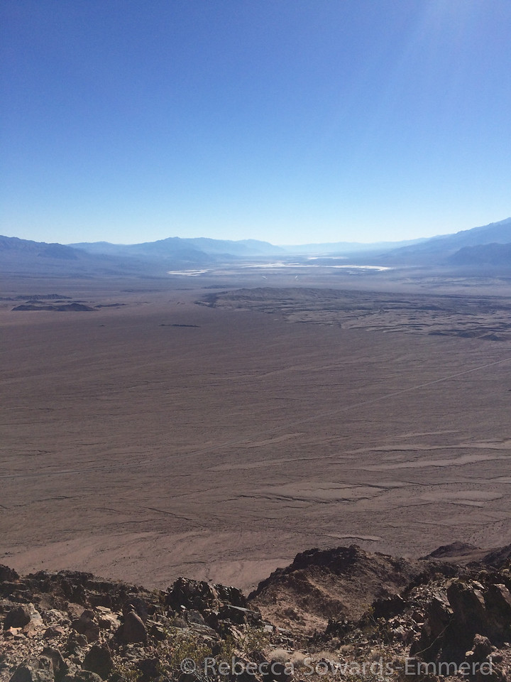 Looking south from DV Buttes through Death Valley.
