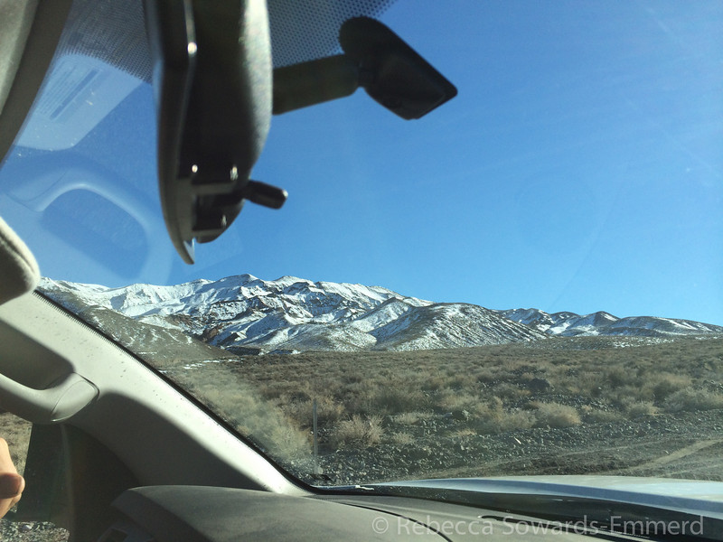 Driving over Towne Pass. I've never seen snow up here. Just a few days prior they required snow chains!