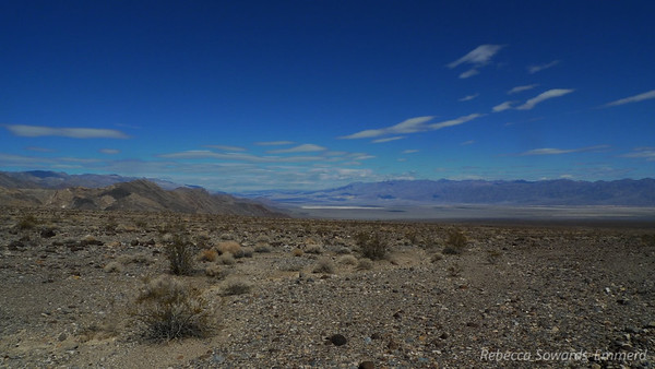 Looking back down on the Stovepipe Wells Area
