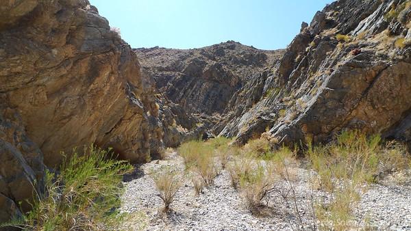 Into the narrower part of Lemoigne canyon.